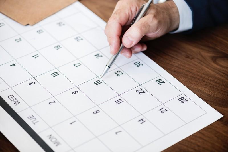 A számla dátumai