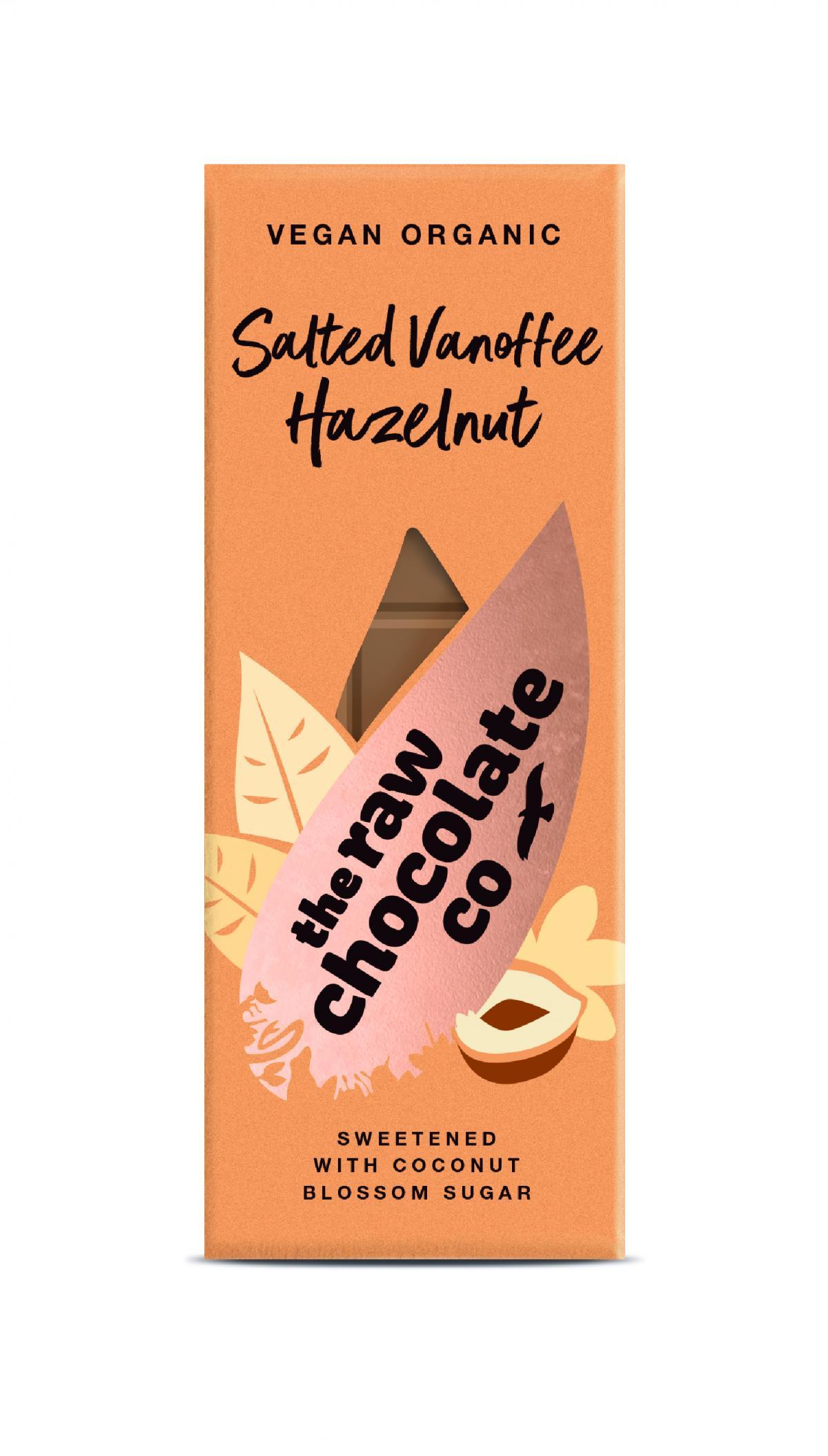 Nyers csokoládé  szelet - Sós mogyorós Vanoffee 38g