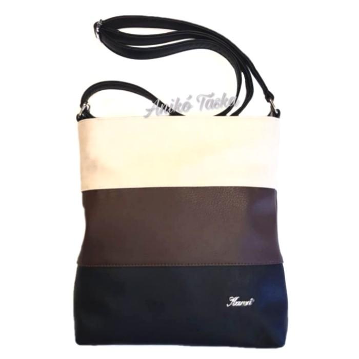 Karen női oldal táska többszínű fekete-barna-drapp