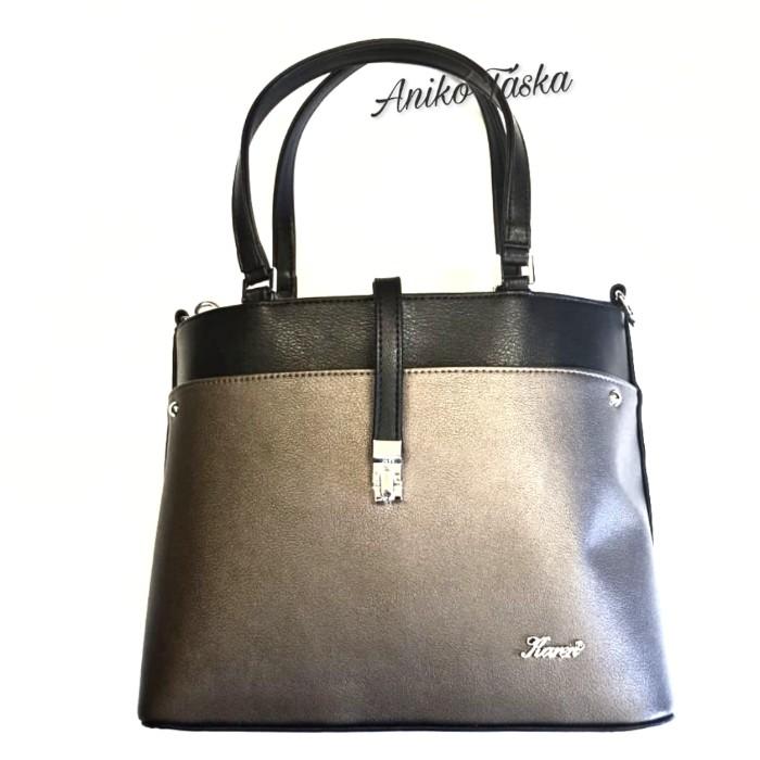 Karen elegáns női táska áthajtó kapcsos fekete bronz