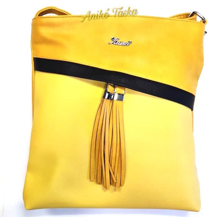 Karen női lapos oldal táska sárga