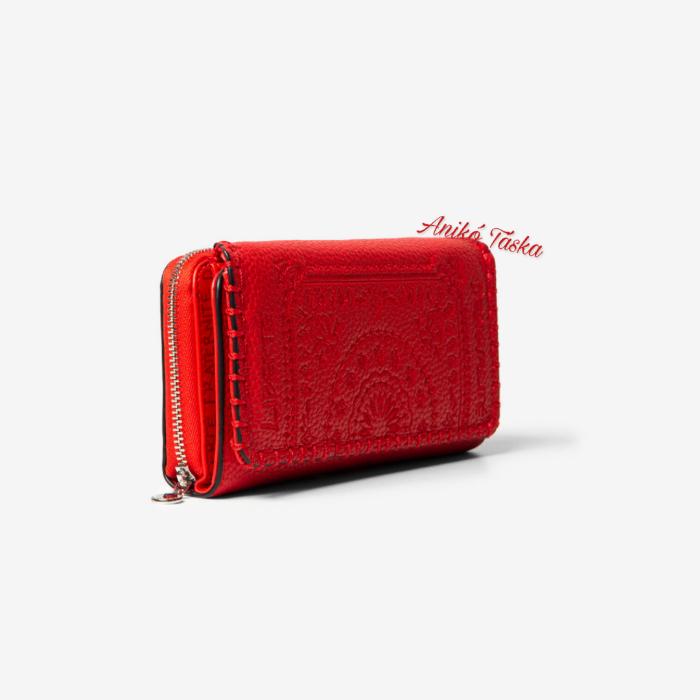 Desigual nagy pénztárca sok kártyatartós piros