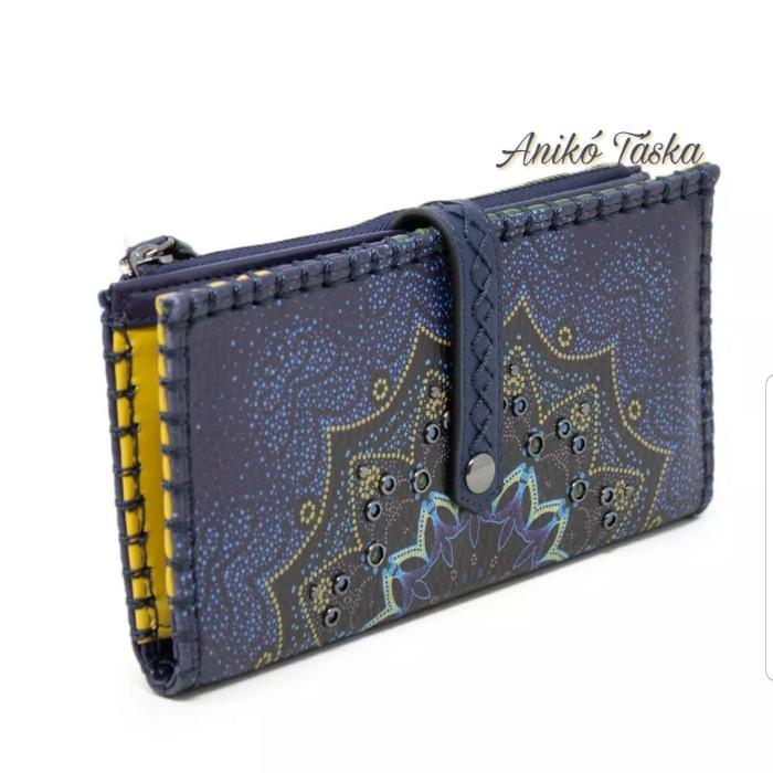 Desigual hosszú pénztárca sok kártyatartós kék