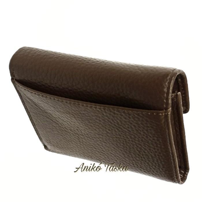 Prestige kis bőr pénztárca cipzáras aprótartós zöld