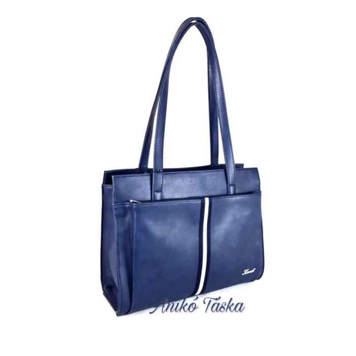 Karen kék női táska dekorcsíkkal 9290
