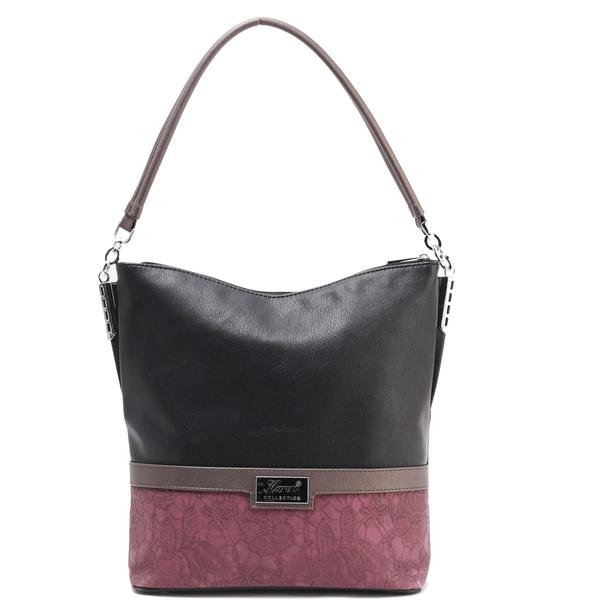 Karen női táska 1337bis fekete bordó