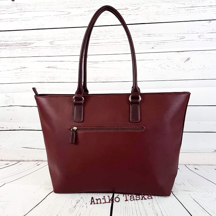 David Jones női táska nagy vékony laptoptartós bordó