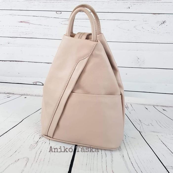 Olasz bőr háti táska púderrózsaszín