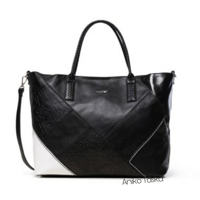 Desigual nagy női táska fekete plusz állítható pánttal