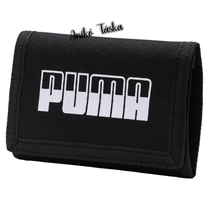 Puma pénztárca feliratos tépőzáras fekete