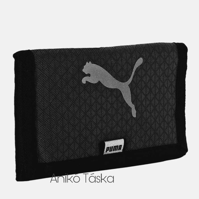 Puma pénztárca tépőzáras fényvisszaverős ugró logós fekete
