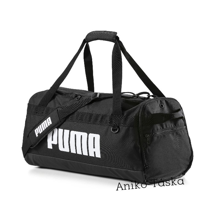 Puma közepes egyszerű sporttáska hevederes fekete