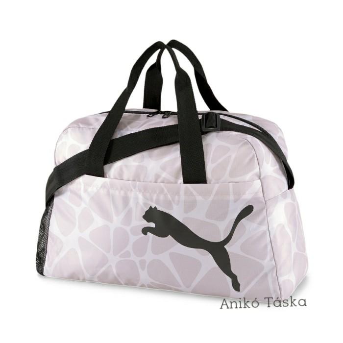 Puma női fitnesz táska könnyű anyagú állítható pántos tavirózsaszínű