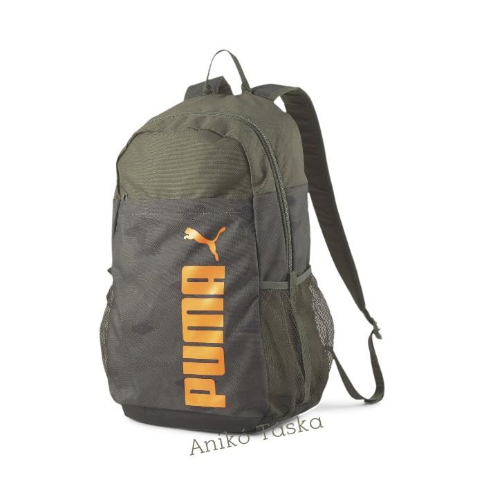 Puma hátizsák stílusos khaki terep mintás kulacstartós