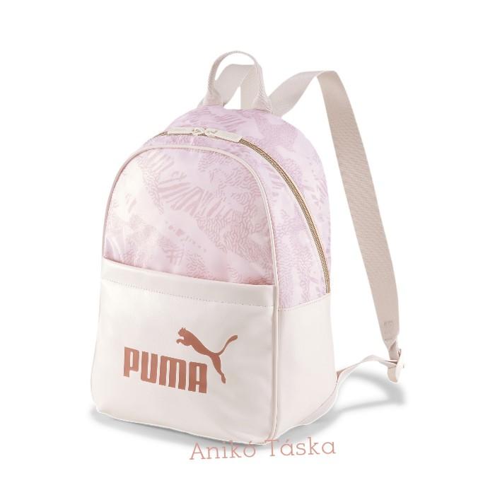 Puma női háti táska elegáns íves tavirózsa színű