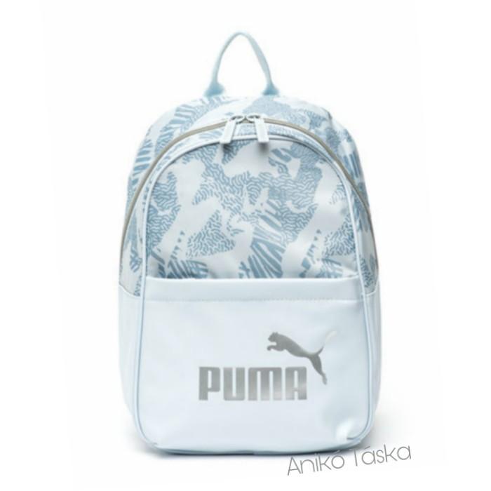 Puma női háti táska elegáns íves könnyed kék