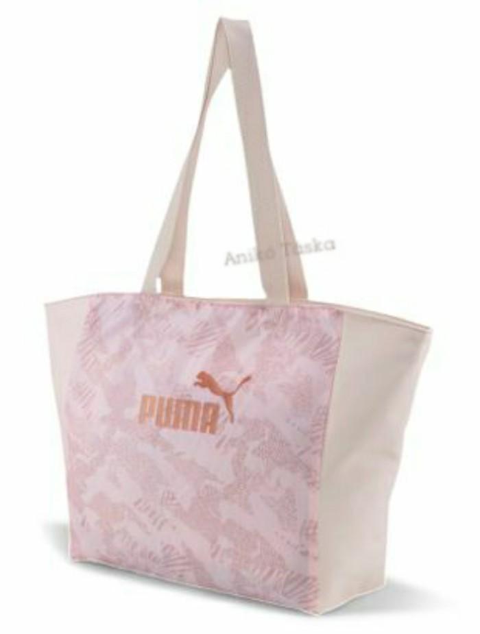 Puma shopper fazonú nagy női táska tavirózsa színű