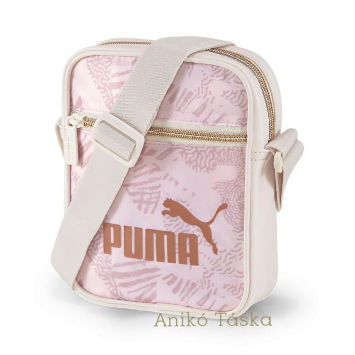 Puma bőrhatású kis oldaltáska tavirózsa színű
