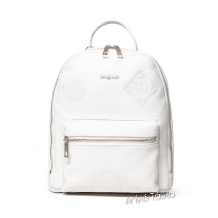 Desigual háti táska kis íves mandala mintás fehér