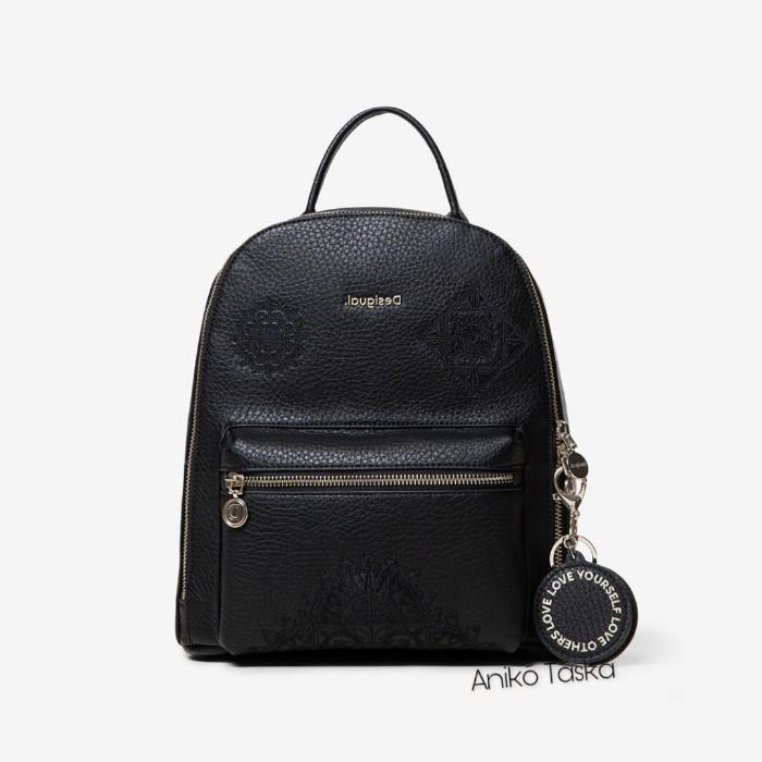Desigual háti táska kis íves mandala mintás fekete