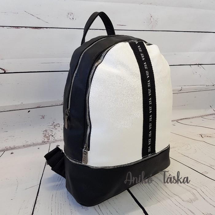 Karen hátitáska fekete fehér ZI 34
