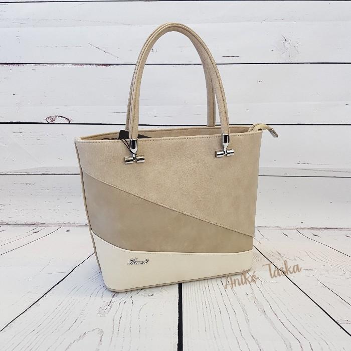Karen merev falu ferde sávos háromszínű táska fehér aljú D417