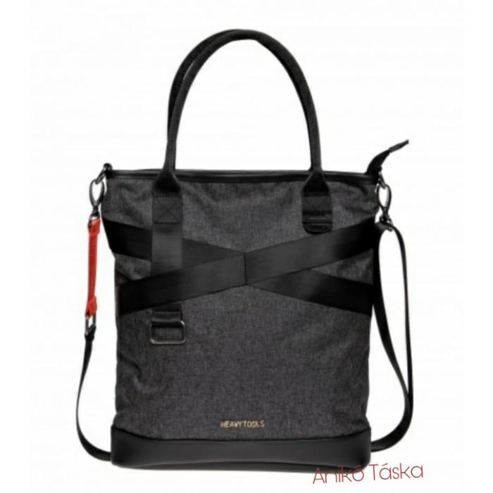 HeavyTools női shopper táska laptoptartós szürke Eden