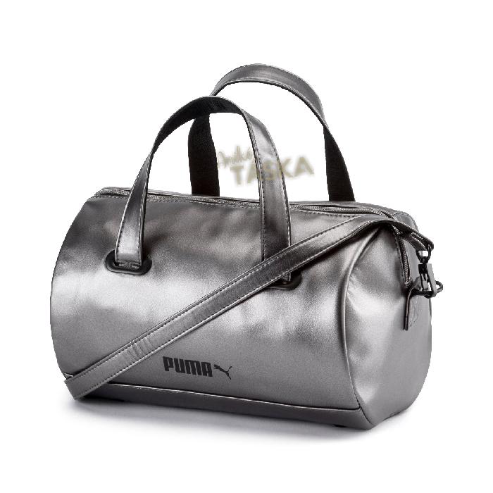 Puma kis női henger kézi táska ezüst
