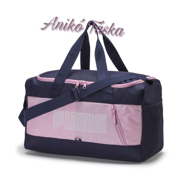Puma kis méretű sport táska sötétkék - halvány rózsaszín