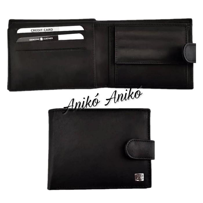 Kadro felhajtható kártyatartós bőr férfi pénztárca fekete