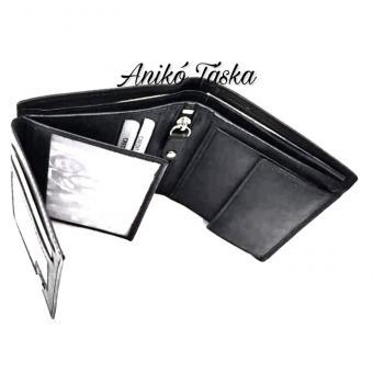 Kadro álló fazonú bőr kis férfi pénztárca fekete