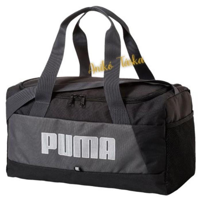 Puma XS edzős táska feliratos fekete