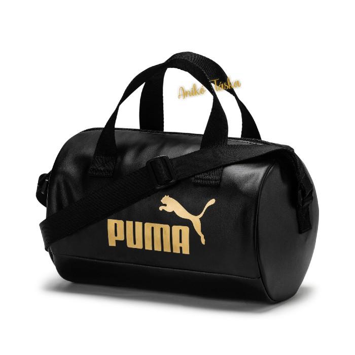 Puma női kézi táska henger fekete