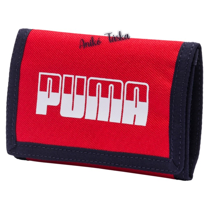 Puma pénztárca feliratos tépőzáras piros