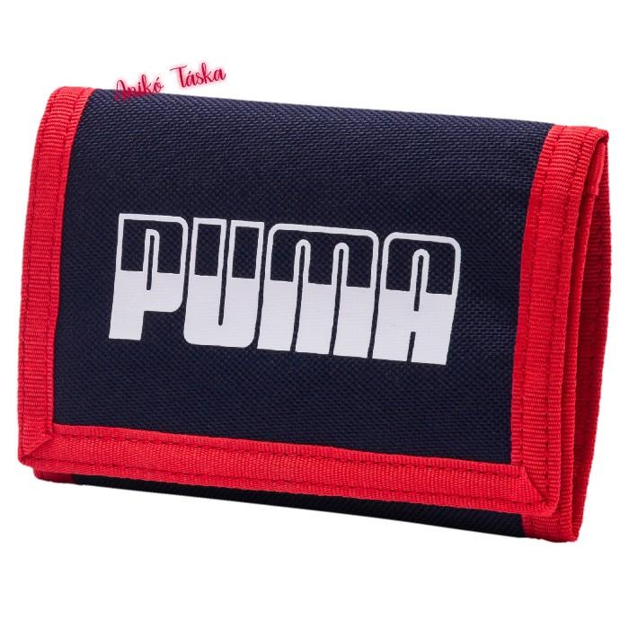Puma pénztárca feliratos tépőzáras sötétkék
