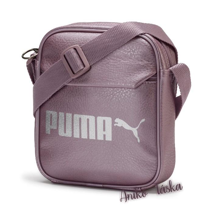 Puma kis oldaltáska fényes műbőr bodzalila