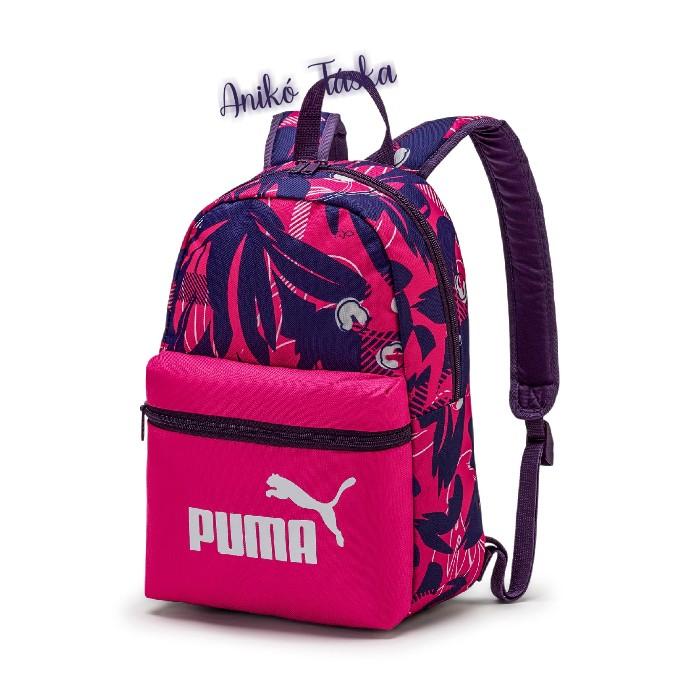 Gyerek háti táska fukszia lila Puma