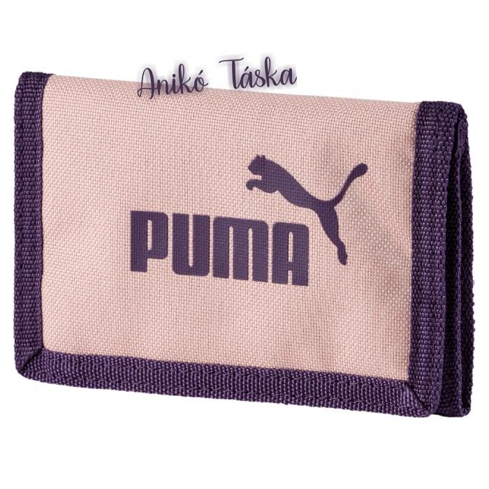 Puma logós tépőzáras pénztárca barackvirág színű