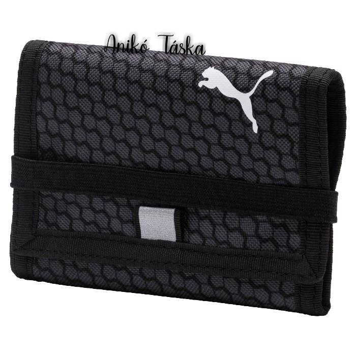 Puma vászon pénztárca gumis fekete
