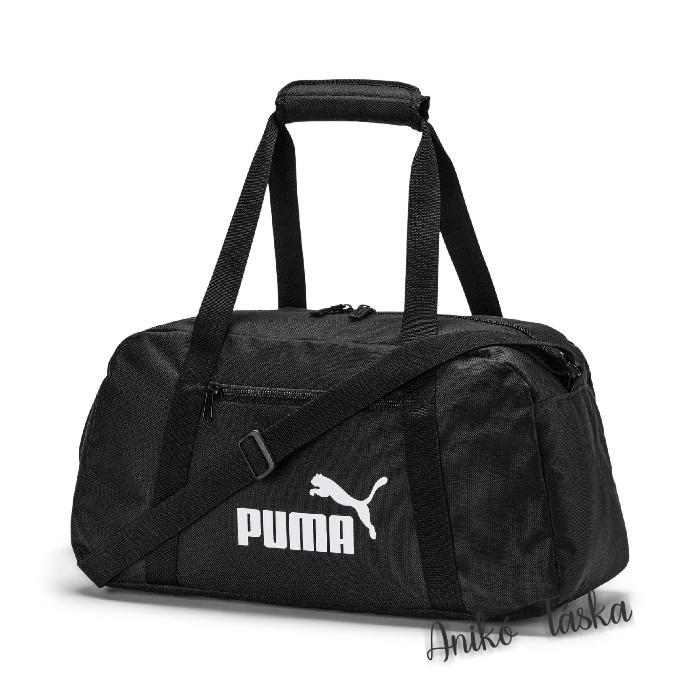 Puma edző táska egyenes cipzáros fekete