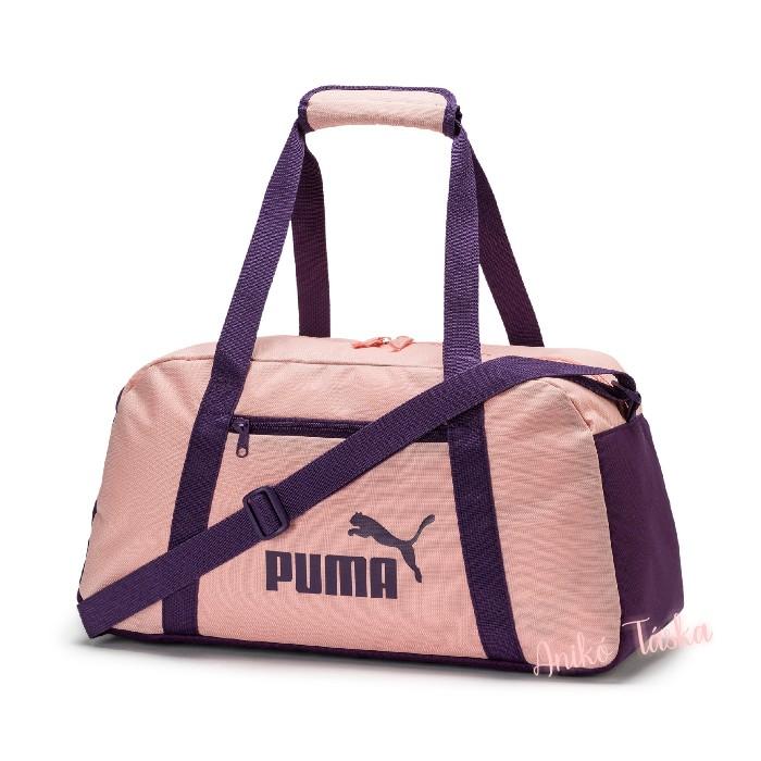 Puma edző táska egyenes cipzáros barackvirág színű