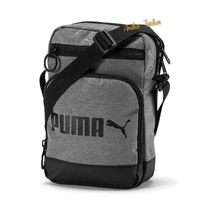 Puma táska sokzsebes szövött anyagból acélszürke
