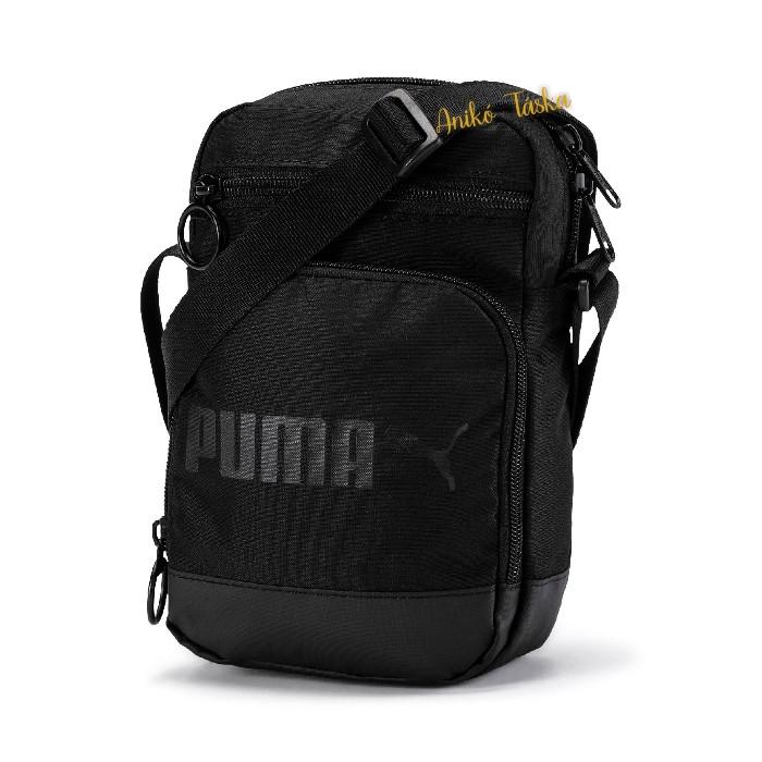 Puma táska sokzsebes szövött anyagból fekete
