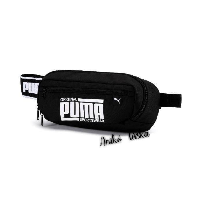 Puma övtáska dekorszíjjal fekete fehér