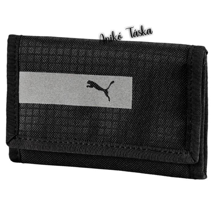 Puma tépőzáras pénztárca fényvisszaverős fekete