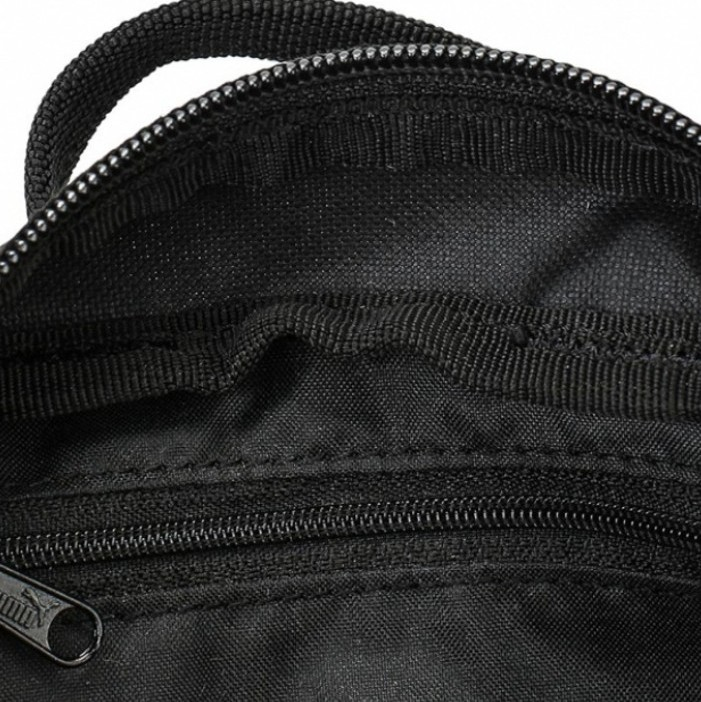Puma vászon válltáska domború mintával fekete