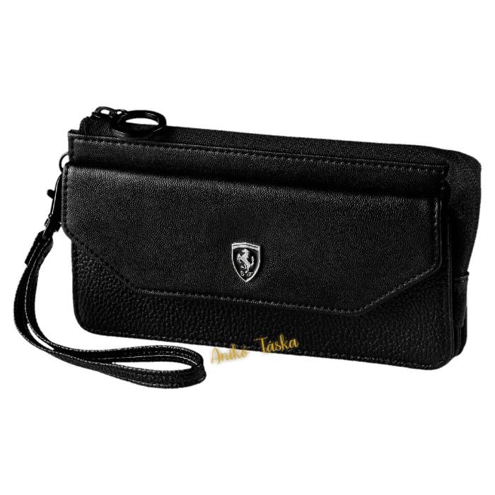 Ferrari női pénztárca plusz zsebbel fekete Puma