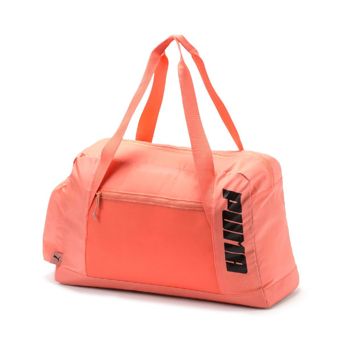 Puma női fitnesz táska fényes barackvirág színű