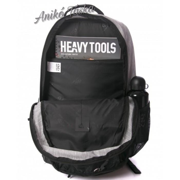 HeavyTools hátitáska laptoptarós szürke kék
