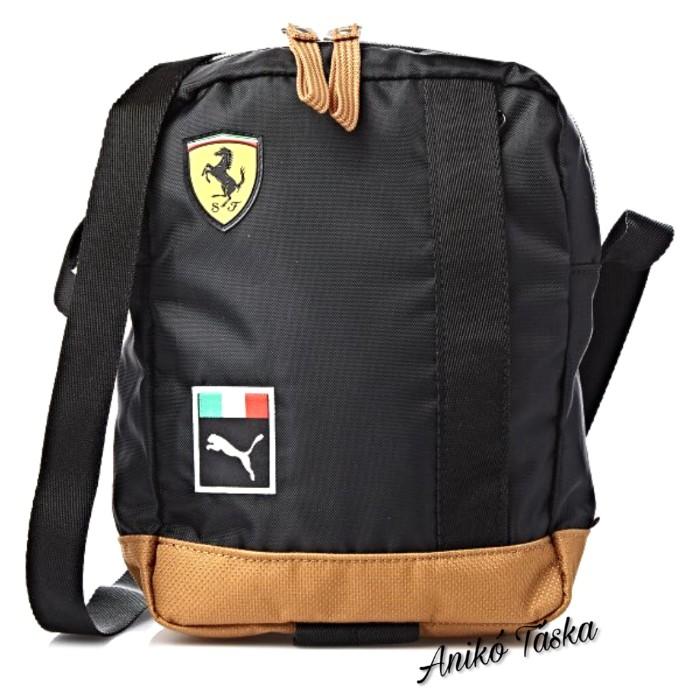 Ferrari kis táska fekete barna vászon Puma